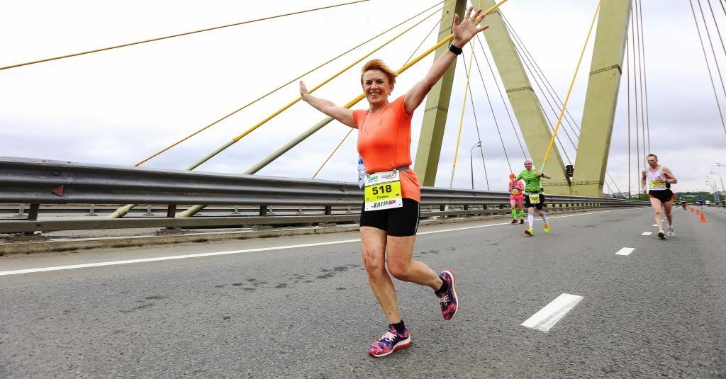 Казанский марафон, мост Милениум