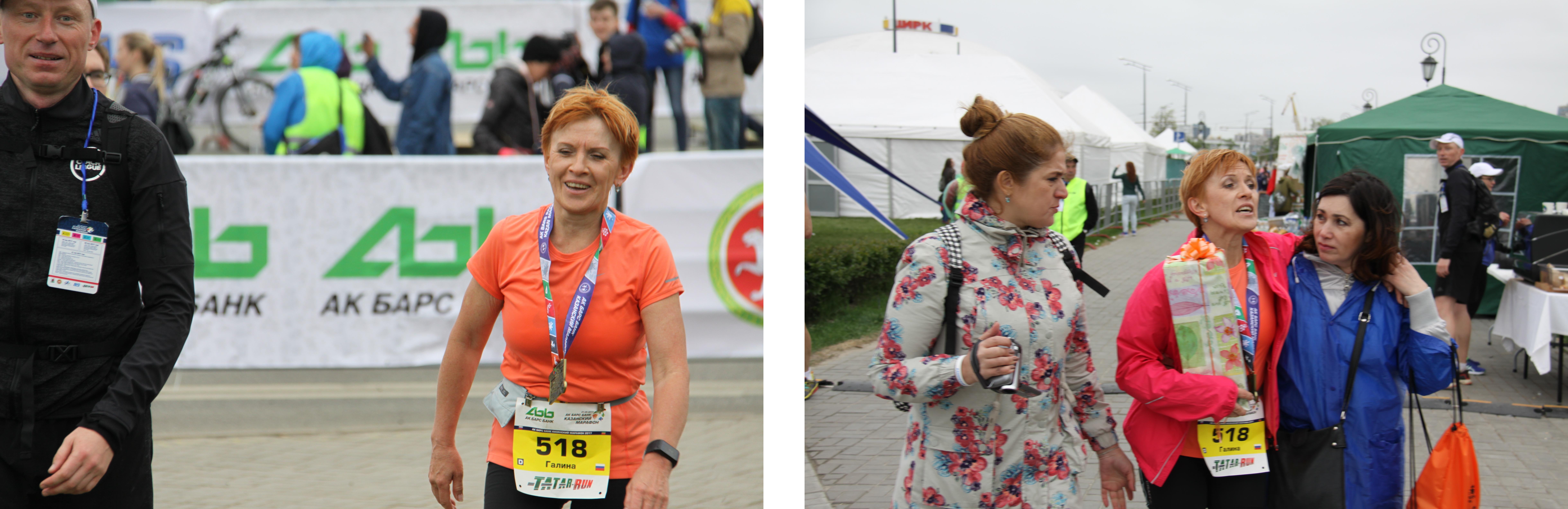 После финиша Казанского марафона
