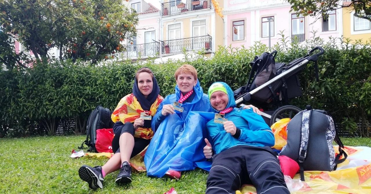 После финиша на Лиссабонском полумарафоне