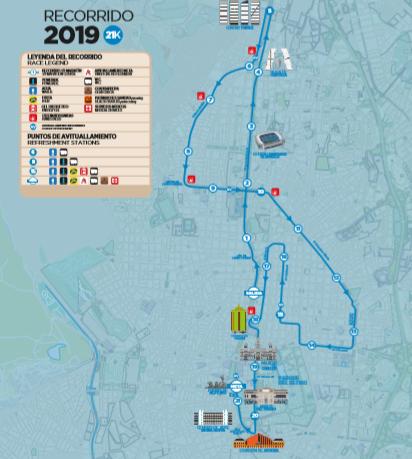 Трасса Мадридского марафона